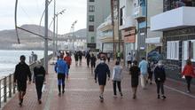 Paseo de Las Canteras, zona de deporte, paseo y también terrazas.
