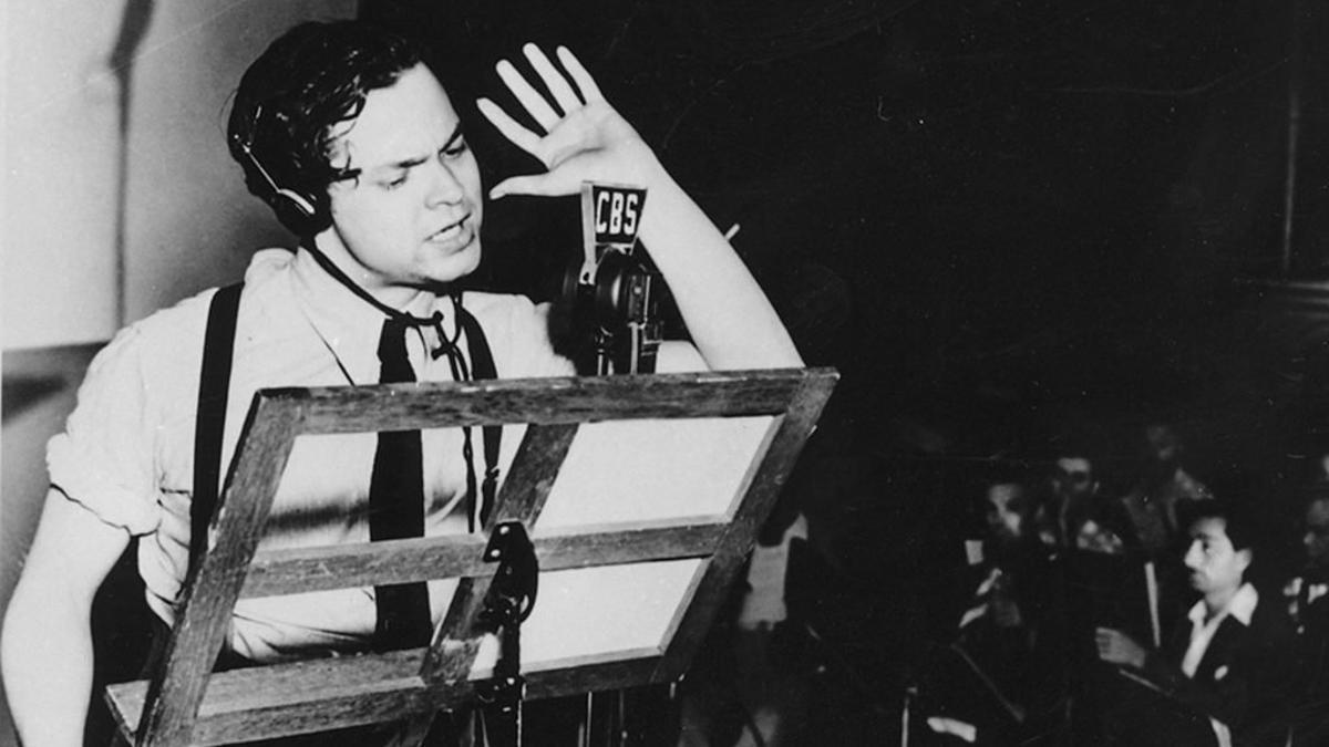 Un joven Orson Welles.