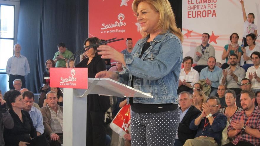 La candidata del PSOE a las europeas, Elena Valenciano