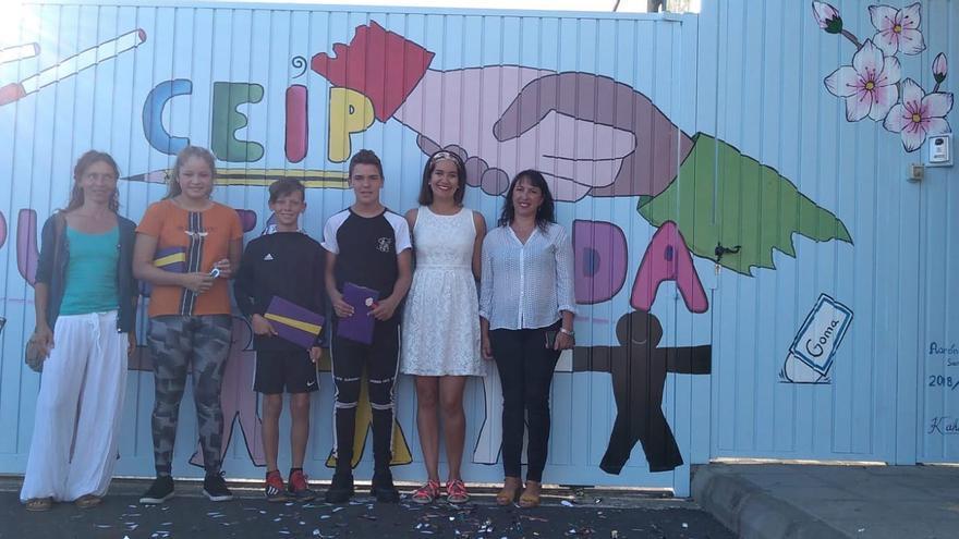 Mural realizado en el CEIP Puntagorda.