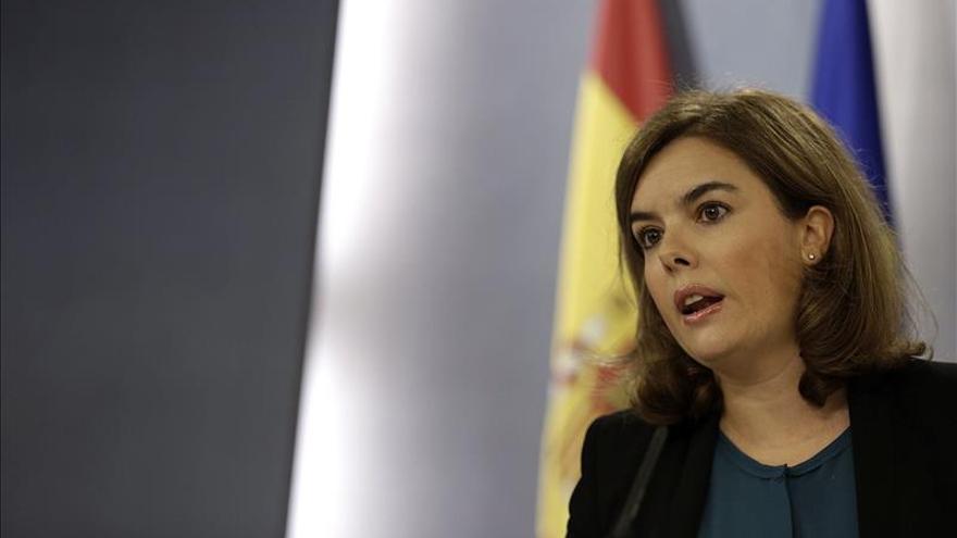 La vicepresidenta del Gobierno, Soraya Sáenz de Santamaría, se ha puesto al frente de la gestión de la crisis del ébola.