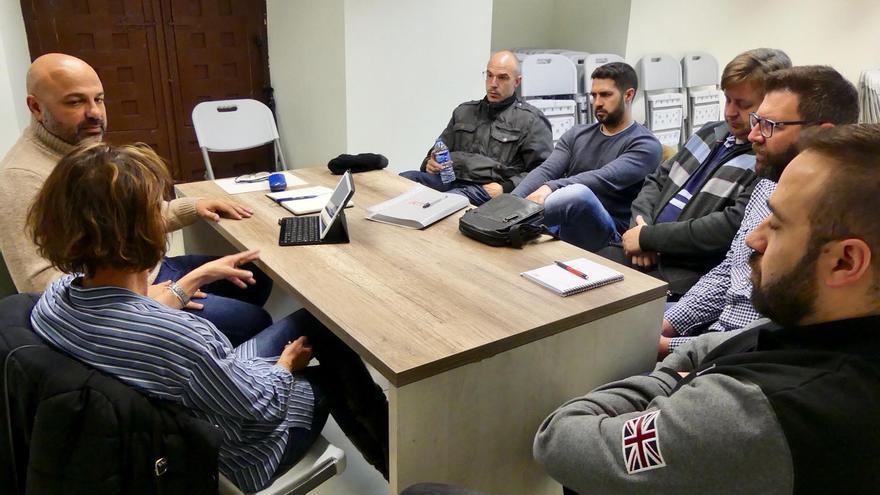 Reunión de José García Molina con trabajadores de Geacam