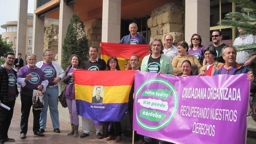 Miembros que conforman la candidatura de 'Entre todos, sí se puede, Córdoba' que concurren a las municipales de mayo.