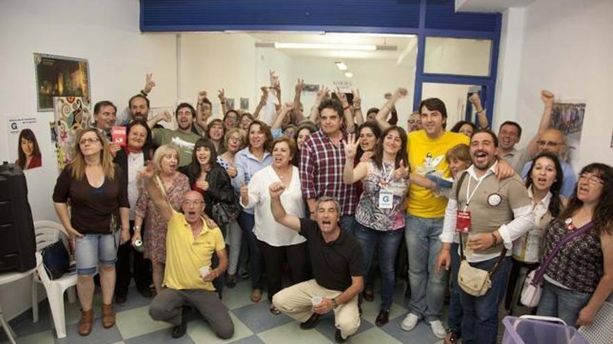 Celebración elecciones de Ganemos Talavera