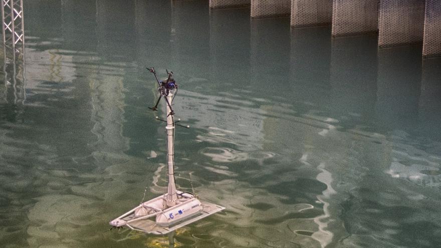 IHCantabria finaliza los ensayos de la plataforma flotante SATH para turbinas eólicas