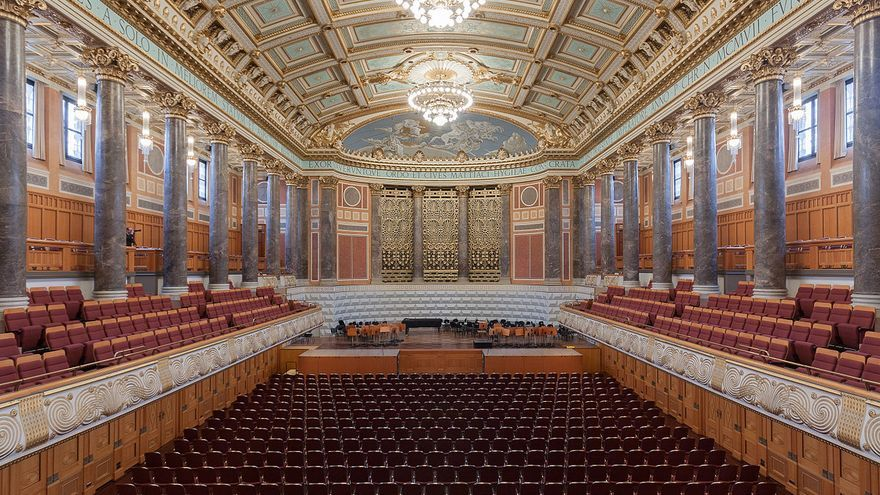 Friedrich-von-Thiersch-Saal, Wiesbaden, Alemania. Foto: Martin Kraft, CC BY-SA
