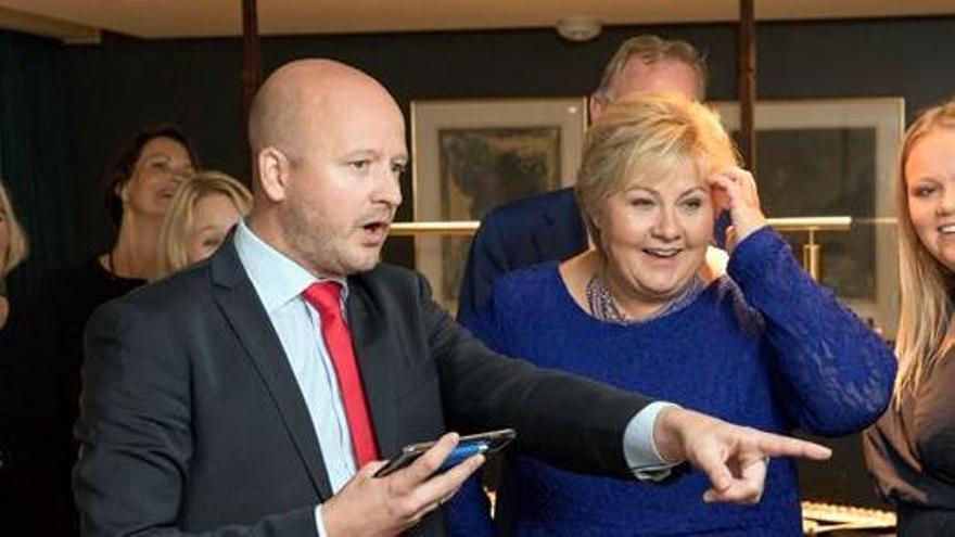 Erna Solberg, la primera conservadora reelegida en Noruega en tres décadas