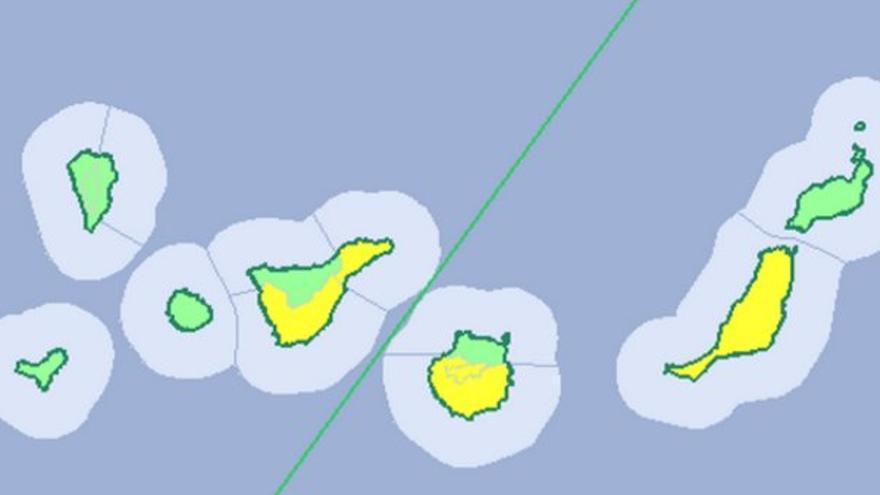 Mapa de la Aemet para el miércoles 20 de julio