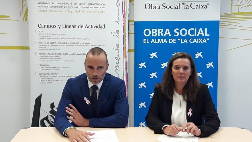 La Obra Social La Caixa aporta una ayuda de 20.000 euros a CNTA para un proyecto de investigación alimentaria