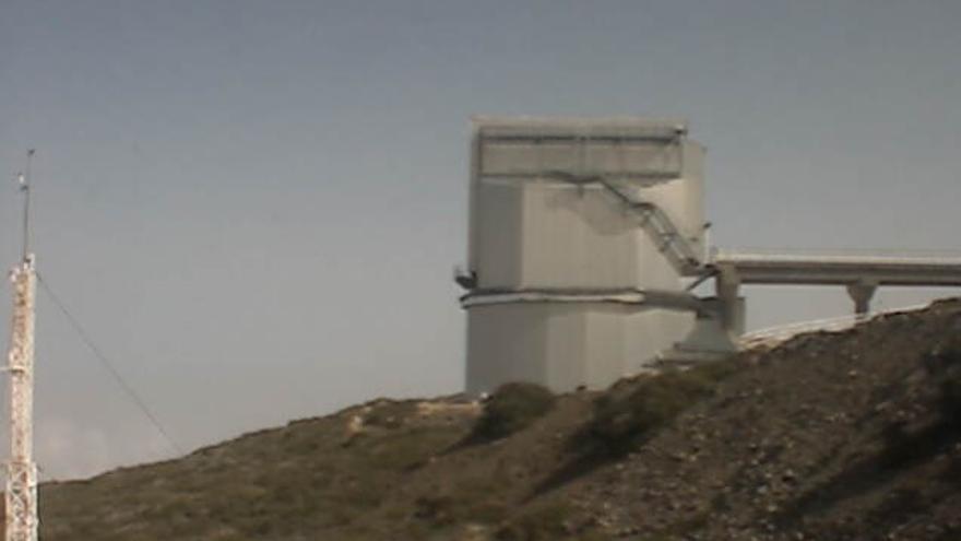 En la imagen, Telescopio Nazionale Galileo (TNG), ubicado en el Observatorio de El Roque de Los Muchachos, este martes.