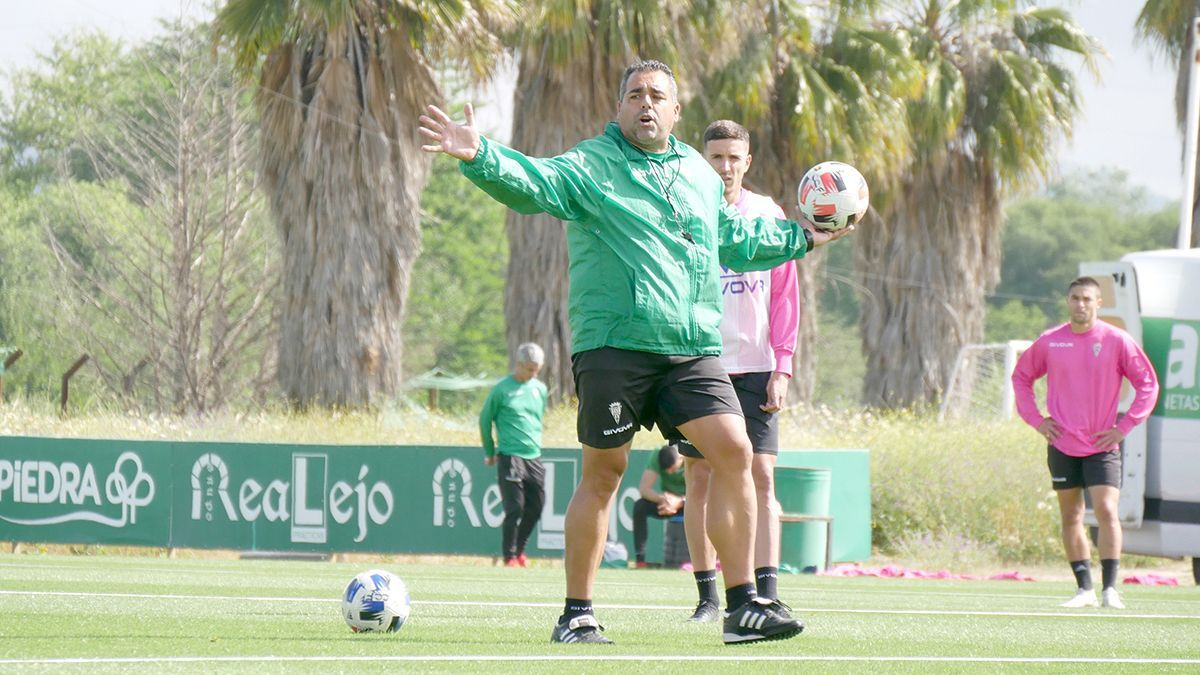 Germán Crespo, en un entrenamiento del Córdoba.