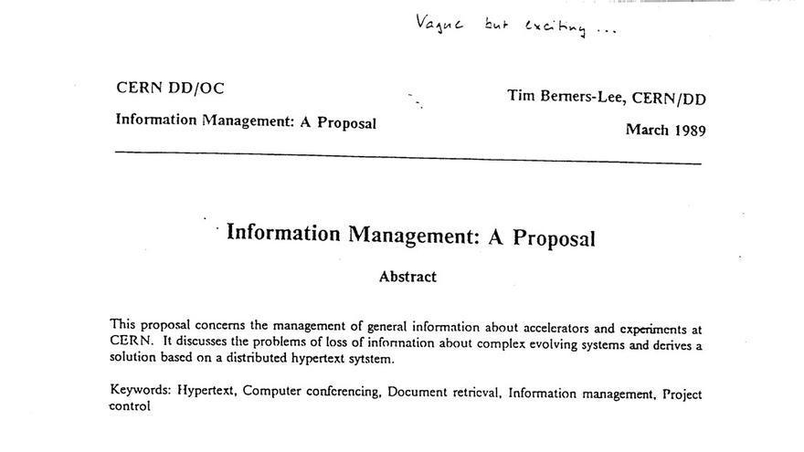 Tim Berners-Lee propuso Ethernet para gestionar los datos del CERN