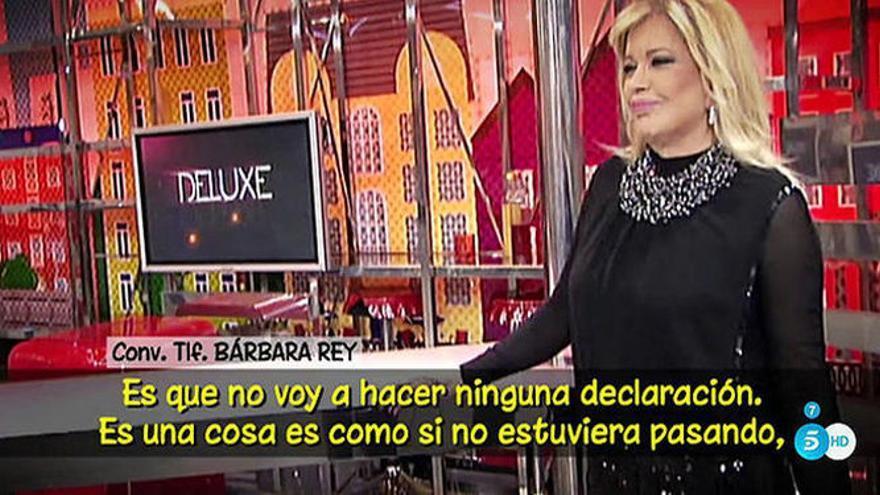 Bárbara Rey en una de sus apariciones en el programa de Telecinco 'Sálvame'
