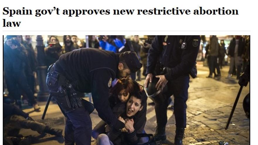 Cobertura del Washington Post sobre las protestas contra la ley Gallardón.