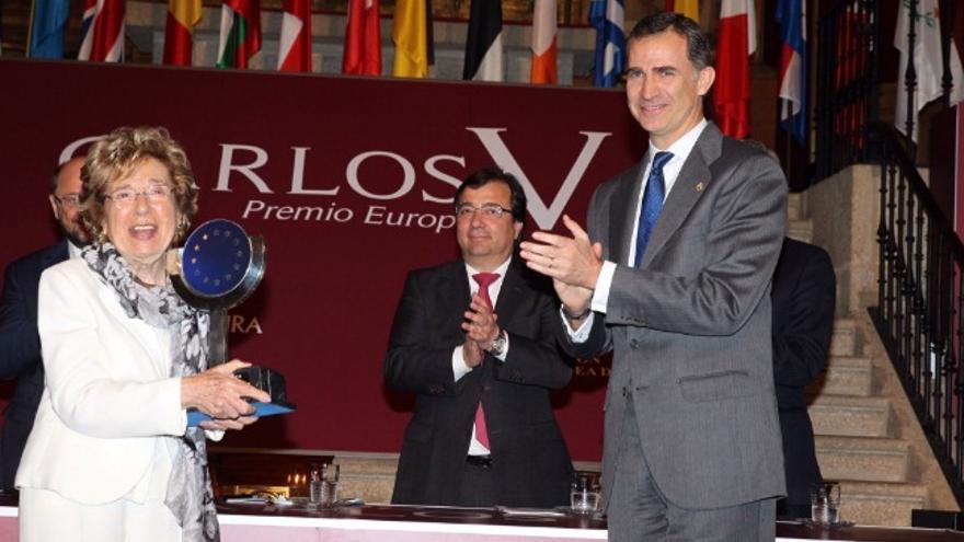Entrega del Premio Carlos V en el Real Monasterio de Yuste / Twitter @CasaReal
