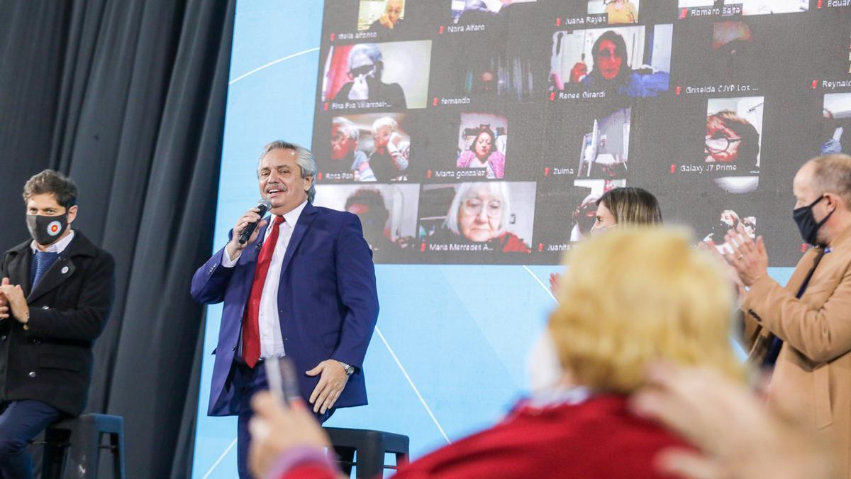 Alberto Fernández optimista con el avance de la campaña de vacunación