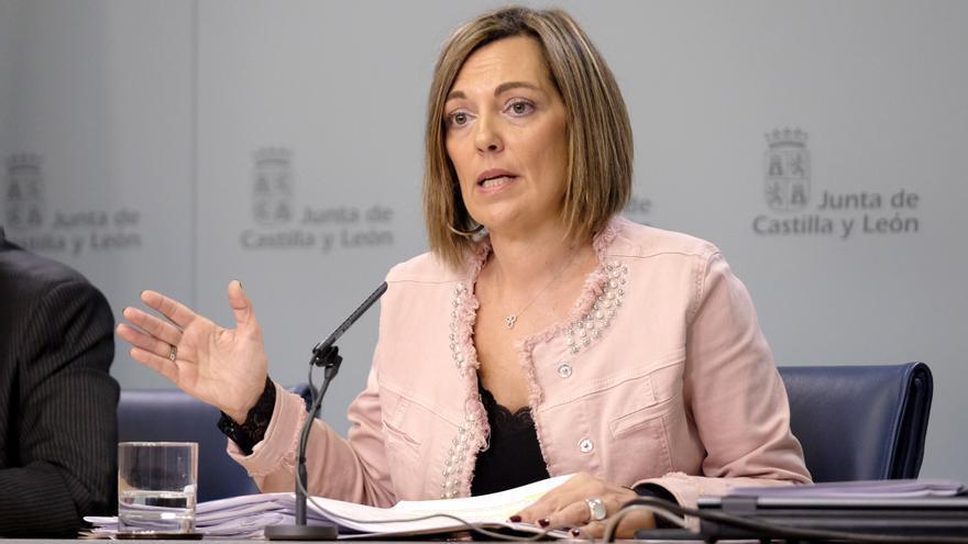Milagros Marcos, portavoz y consejera de Agricultura de la Junta de Castilla y León