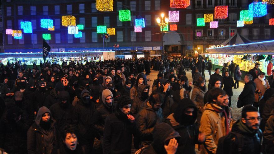 Aspecto de la protesta contra los arrestados acusados de terrorismo / M.D.