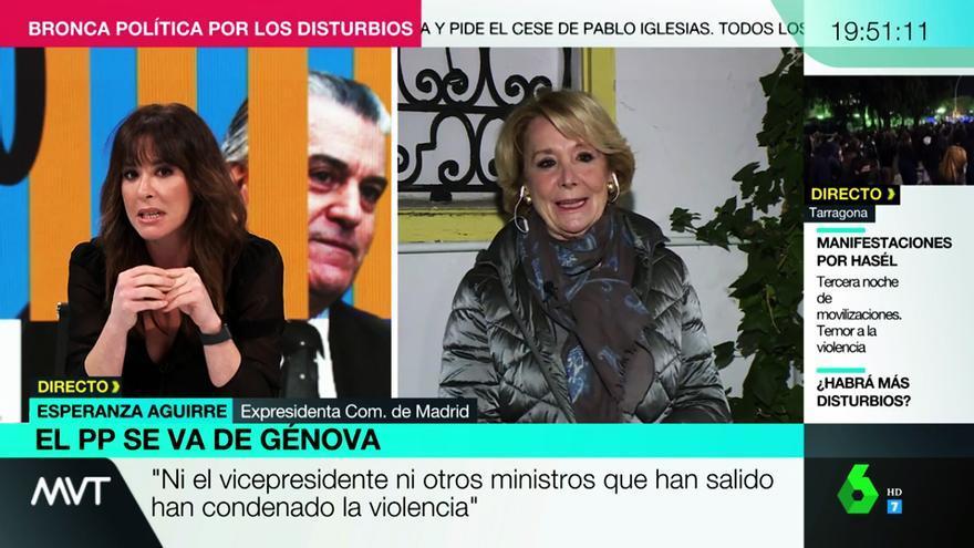 Mamen Mendizábal ante Esperanza Aguirre en laSexta