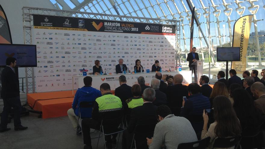 El Maratón Valencia Trinidad Alfonso, en la que junto a la 10k participarán 25.000 corredores, se ha presentado este martes.