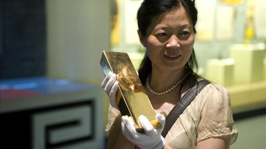 El oro sube un 0,18 por ciento en Londres, hasta los 1.690,50 dólares