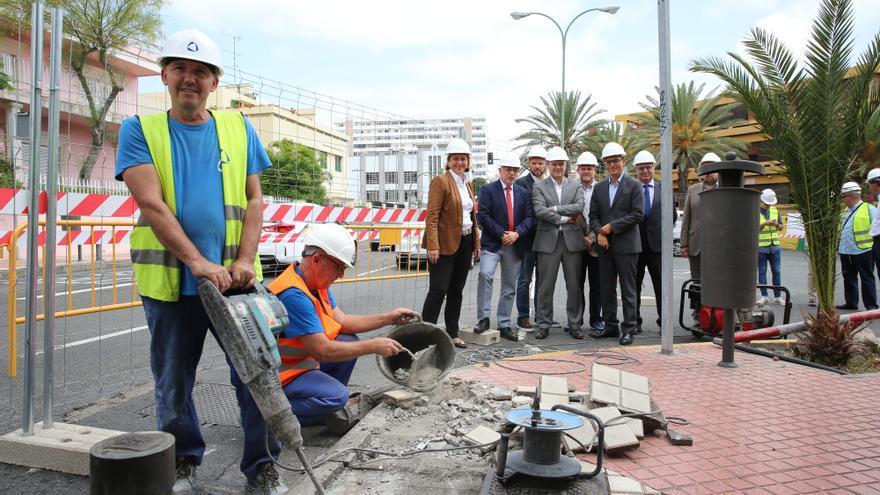 Comienzan los trabajos para la MetroGuagua de Las Palmas de Gran Canaria