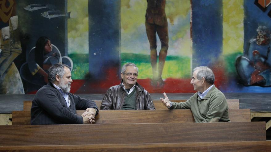 Javier Baeza, Eubilio Rodríguez y Evaristo Villar. / Marta Jara