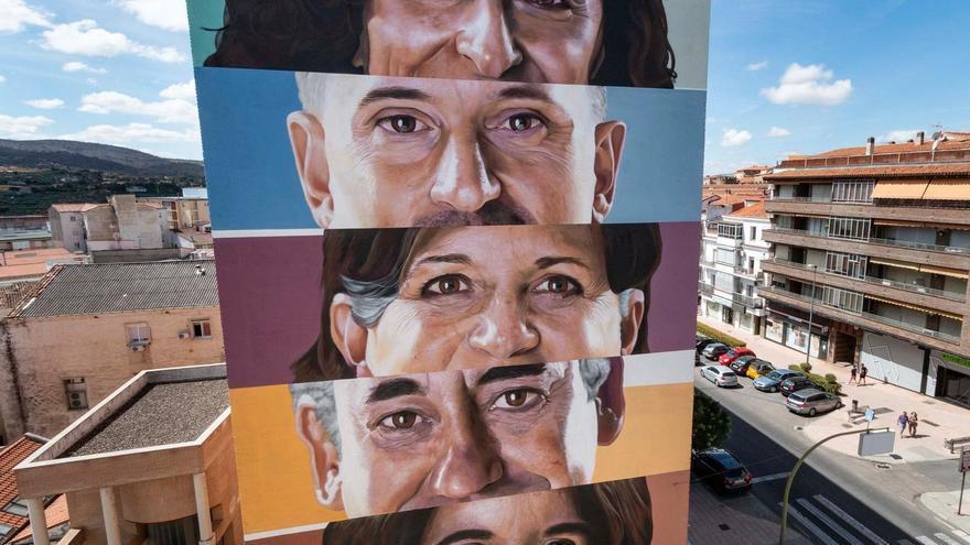 "Mural de Jesús Mateos ""Brea"" en Plasencia"
