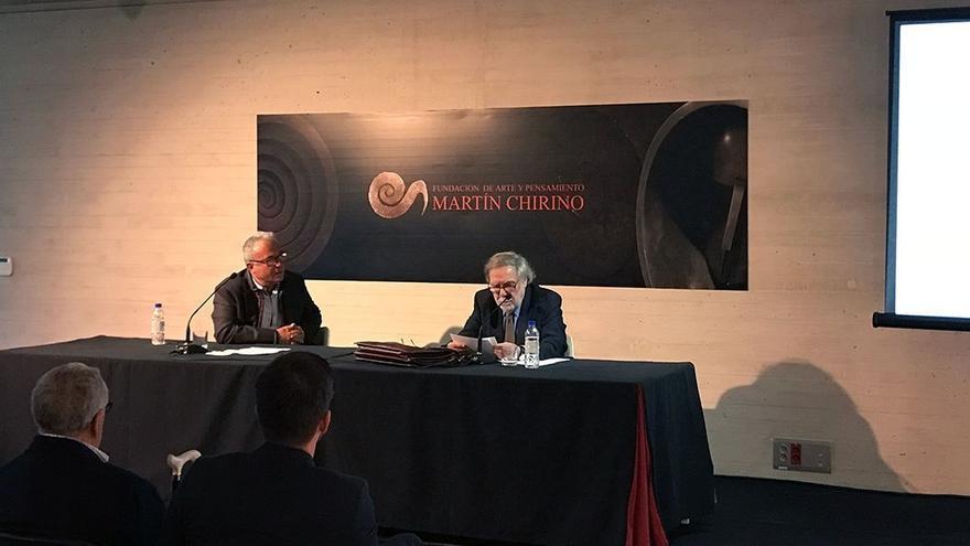 Eugenio Padorno, en la Fundación Martín Chirino