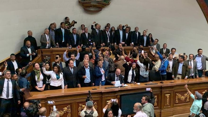 Guaidó en el Parlamento