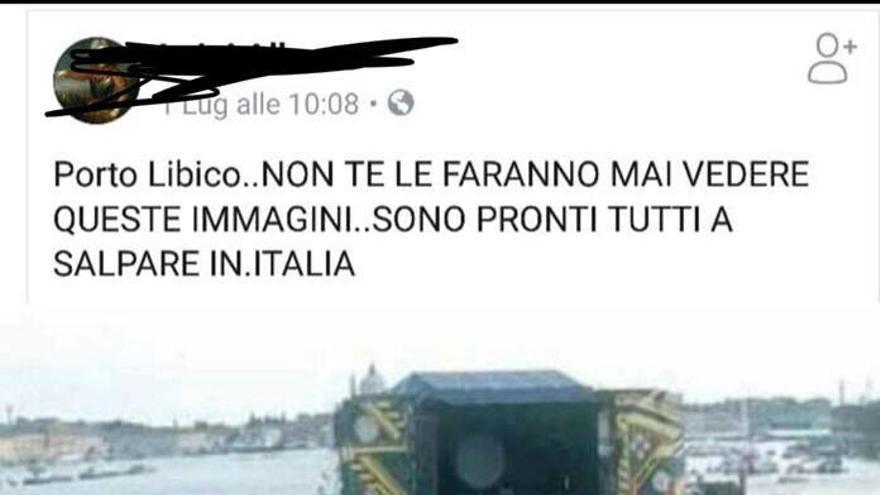 Bulo falso en el que se utilizó una foto de un concierto de Pink Floyd en Venecia de 1989 para hacer creer que era una salida de migrantes desde las costas libias.