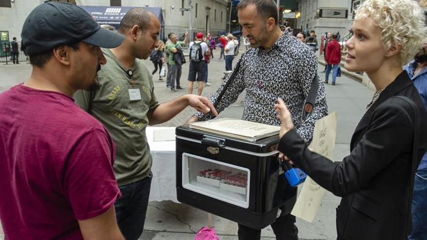 Sangre palestina a la venta a las puertas de Wall Street