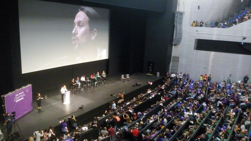 """Pablo Iglesias se erige en la única alternativa al PP y proclama: """"David puede terminar de derrotar a Goliat"""""""