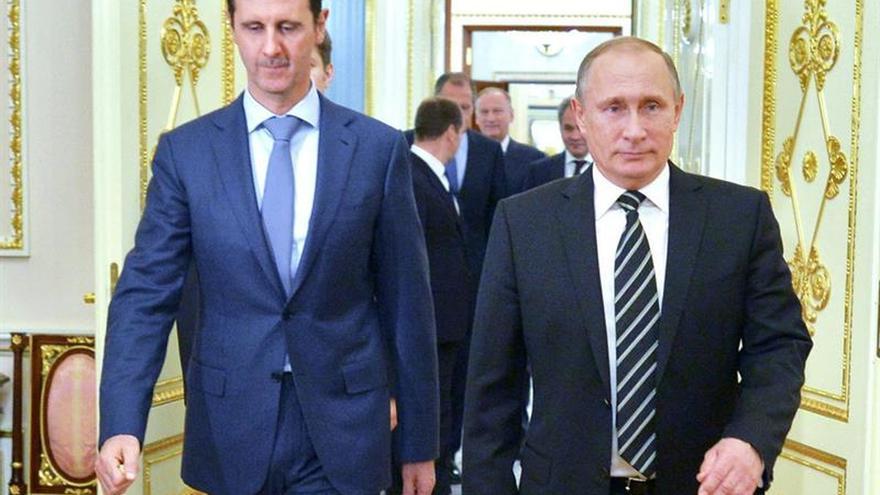 Al Asad compara Alepo con Stalingrado en un mensaje a Putin