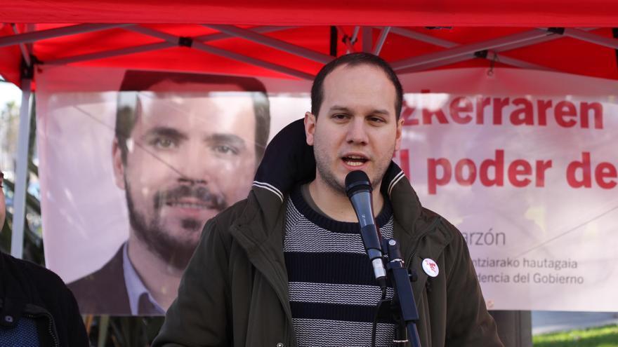 Íñigo Martínez, candidato por Ezker Anitza-IU (Unidad Popular) en Bizkaia.