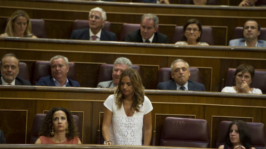 Susana Sumelzo en el Congreso de los Diputados.