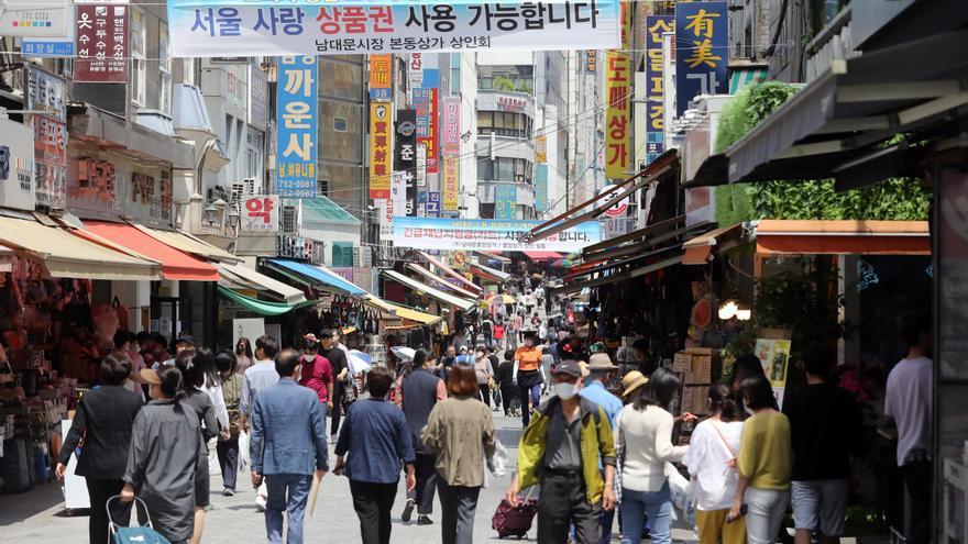 Mercado de Namdaemun en Seúl (Corea del Sur), el pasado 3 de junio