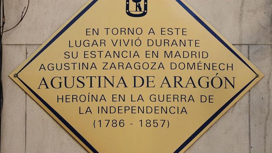 Placa de Agustina de Aragón