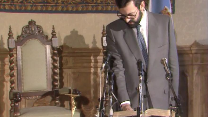 Rajoy toma posesión como vicepresidente de la Xunta en noviembre de 1987 / TVG