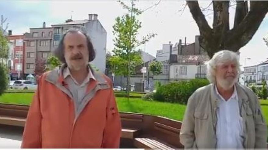 Miguel Anxo Fernán Vello y Xosé Manuel Beiras, de Galicia en Común.