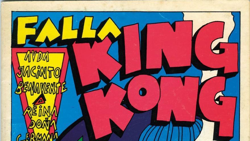 Libro de la falla valenciana 'King Kong' en 1978. Biblioteca. IVAM, Institut Valencià d'Art Modern, Generalitat.