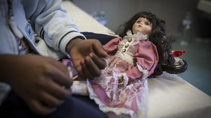 Niña de Somalia, 9 años