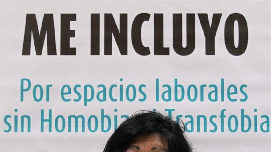 Fotografía de archivo de la activista transexual argentina, Diana Sacayán, durante una visita a La Habana (Cuba)