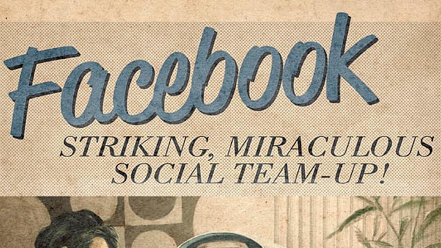 ¿Cómo hubiera sido la publicidad de Facebook en los años 50? (Foto: Agencia Moma)