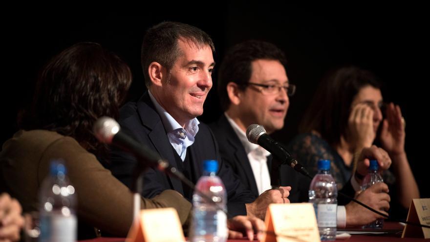 El presidente canario Fernando Clavijo en la presentación de 'Enalza'