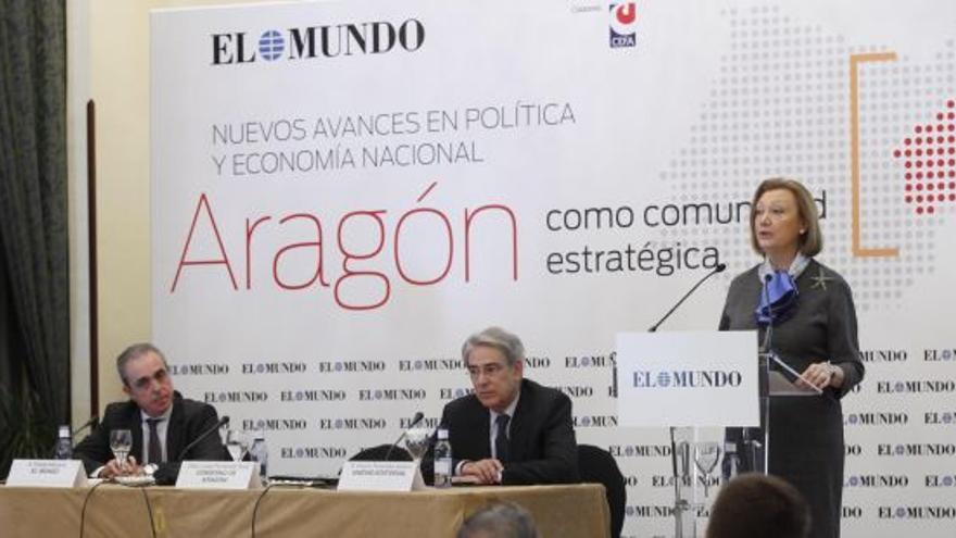Rudi participó el martes en un acto organizado por el periódico El Mundo. Foto: Gobierno de Aragón