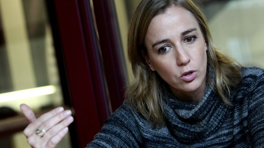 Tania Sánchez, en La Morada de Podemos en Madrid.