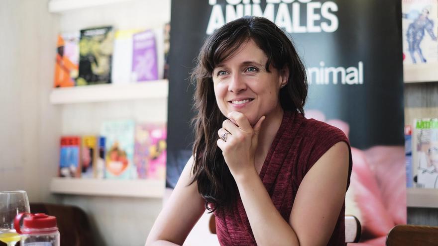 Jo-Anne McArthur en un momento de la entrevista. Foto: Javier Gamonal