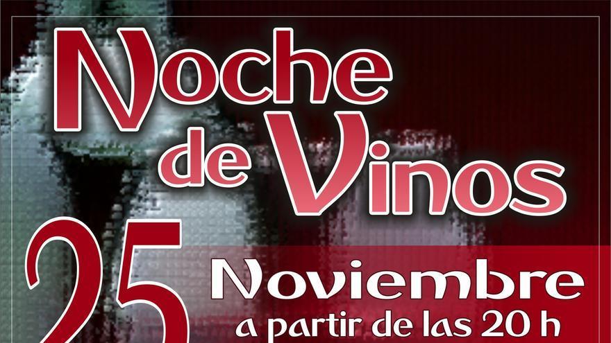 Cartel de la noche de los vinos en Valsequillo.