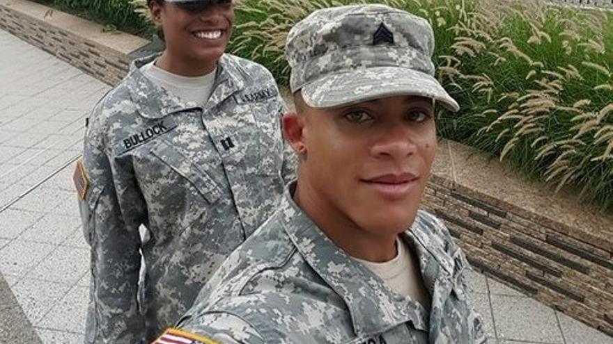Shane Ortega mientras estaba trabajando para las Fuerzas Armadas de de EEUU